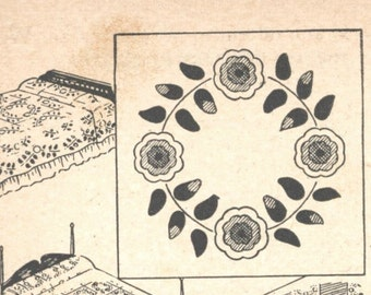 Style No 1 - North Carolina Rose Quilt Pattern PDF Digital Pattern
