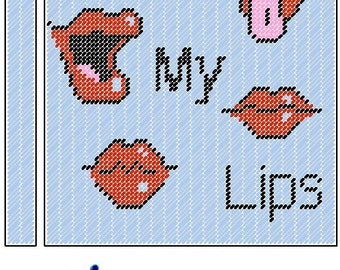 Read My Lips Spiral Notebook Cover Plastic Canvas Pattern