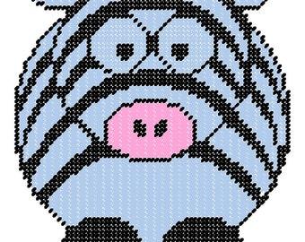 Cute Zebra Plastic Canvas Pattern