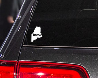 Maine Home. Decal Car or Laptop Sticker