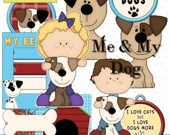 Me and My Dog - Digital Scrapbook Clipart Graphics