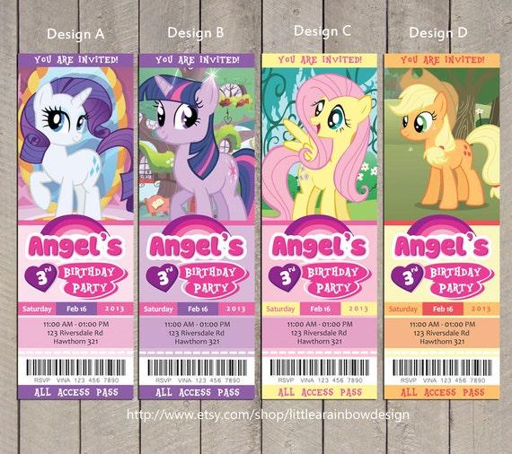 Items similar to My Little Pony Invitation / My Little ...
