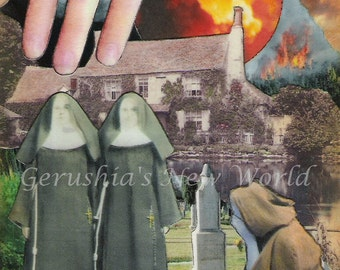 The Burning of Eulalia - Watercolor/Collage Print