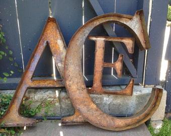 """36"""" Rustic Metal Letters & Numbers"""