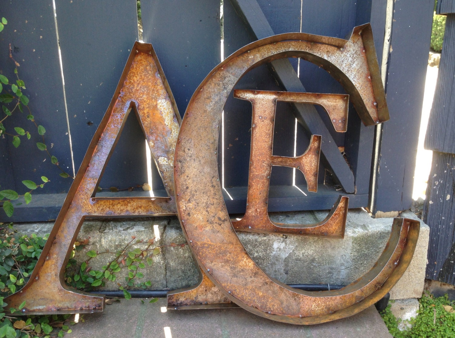 large metal letters 36 rustic metal letters numbers 22690 | il fullxfull.463886090 6k2g