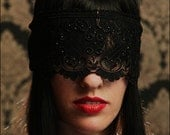 Custom-Made Convertible Lace Mask & Blindfold