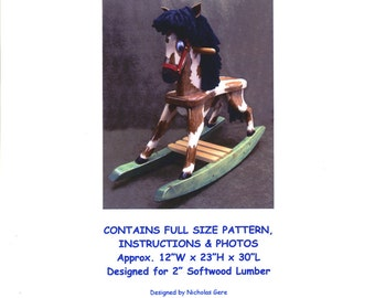 Toddler Rocking Horse Woodworking Plans 103 Pony Rocker
