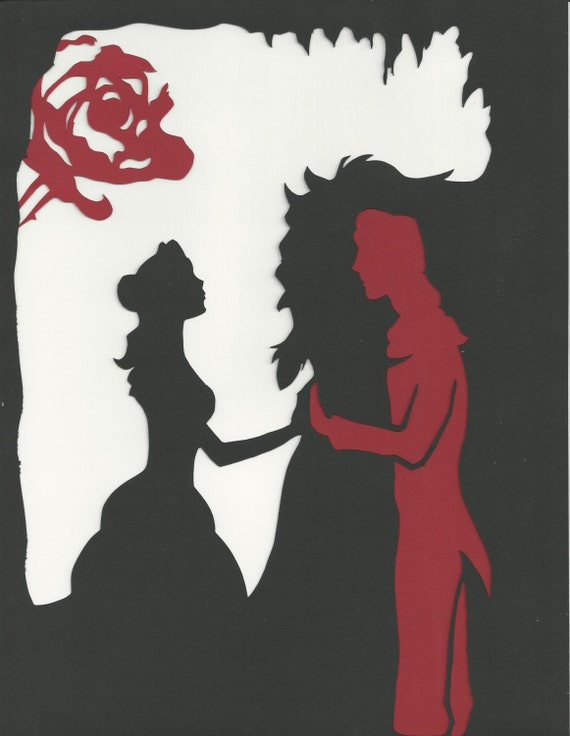 Beauty and the Beast Paper Cut by pollywriggle on deviantART