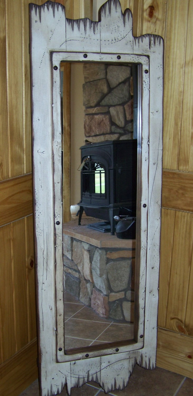 Barn Wood Mirror Rustic Home Decor: Full-Length Barnwood Mirror 60 X 22 Made Of Real Pine Wood