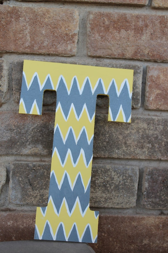 Items Similar To Hand Painted Letter T Or Letter Of Choice