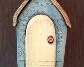Ceramic House Wall Sculpture