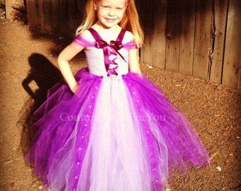 Tangled Dress, disney tangled, rapunzel, rapunzel dress, rapunzel costume, disney princess dress, disney dresses for girls, purple
