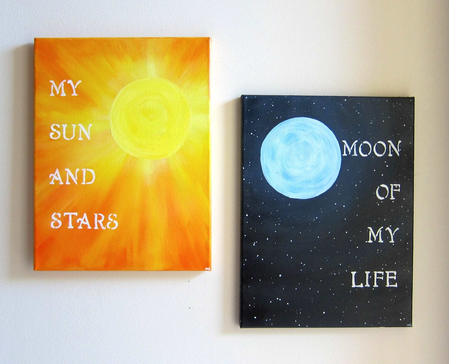 Life Canvas Quote Game Of Thrones Original Painting Set My Sun And Stars