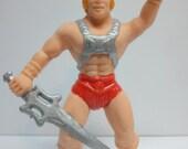 Rare VHTF Vintage 1984 Panosh Place Masters of the Universe MOTU He-Man Collectible Eraser Figure. Retro MOTU Hipster.