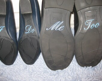 I Do Shoe Decals - I Do Shoe Stickers - Wedding Decals - Shoe Stickers - Wedding Shoe Decals - I Do Me Too Decal - Wedding Day - Blue