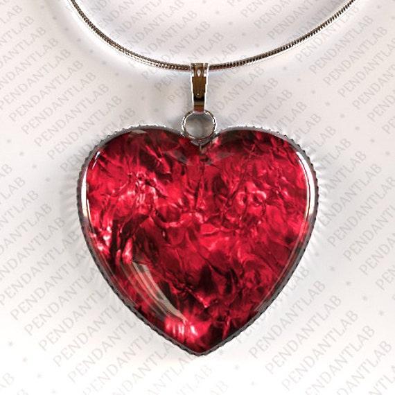 Mini Red Love Chandelier: Items Similar To Crimson Love Heart Pendant, Heart Pendant