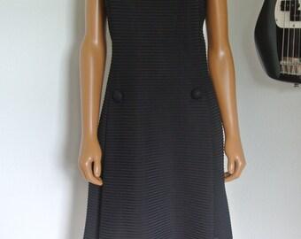 Vintage 1960s Little Black Dress LBD by Lora Lenox Mod 60s Small/Medium