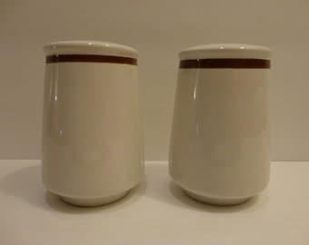 Four Seasons Stoneware Salt and Pepper Shaker Set ~ FREE Domestic Shipping