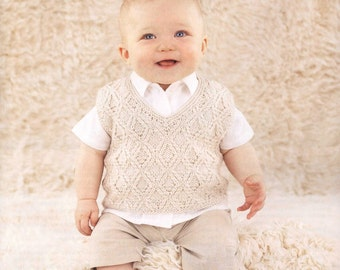 Baby Boy Knits Vest Sweater, Newborn to all Toddler sizes