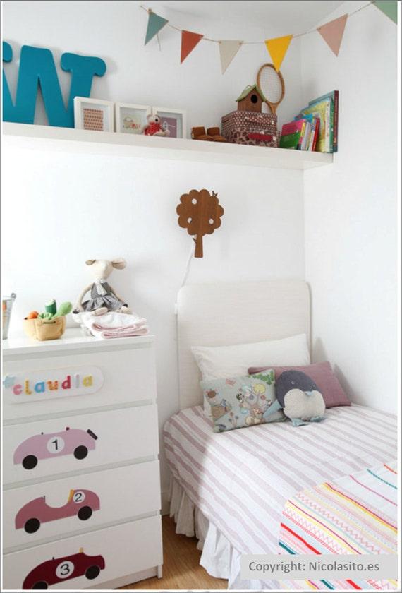 Nursery Wall Decal For Children's Room- Vinyl Vintage Cars -- Kids Vinyl Wall Stickers