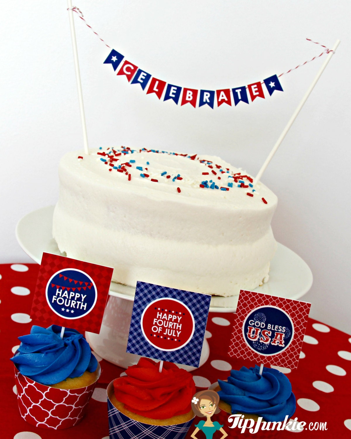 4th Of July Party Decorations Red White Blue BBQ Picnic