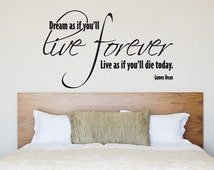 Live Forever James Dean Vinyl Wall Quote