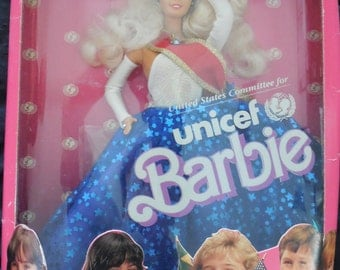 Vintage Unicef 1989 Barbie Doll Special Edition.