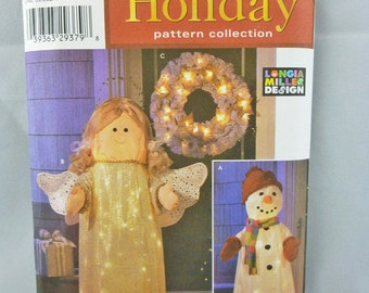 Simplicity 4335 Holiday Pattern Lighted Craft Decorations UNCUT Longia Miller 2005