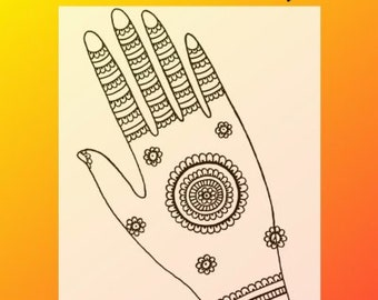 Henna Tattoo eBook Henna Basics And Beyond The Science & Art of Henna Information And Design Book By Jody Rogers