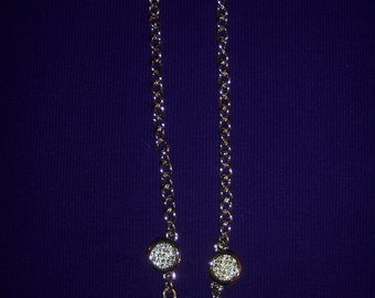 Necklace: Express Chunky Chain with Rhinestone Encrusted Accents #125