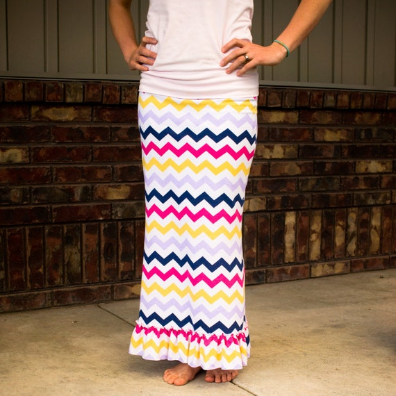 Women's Ruffled Maxi Skirt Sewing Pattern