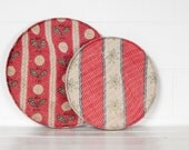 Vintage Kantha Covered Round Trays