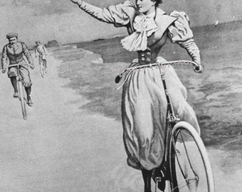 Hubner Raleigh Bicycle Art Nouveau Advertisement Holland 1895 Victorian Era Lithograph Poster Ad To Frame