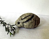 Sweet  Stoneware Cottontail Rabbit Sculpture, Made to Order