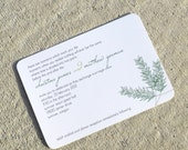 Wedding Invitation Modern Pine Branch - Winter Deposit