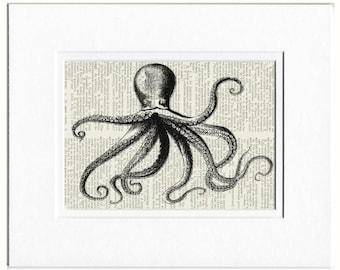 Octopus I dictionary page print