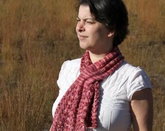 PDF knitting pattern scarf, scarflette, Warm Hello Scarf