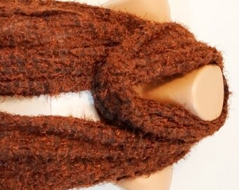Brown, Redish Brown Shawl, wrap, very soft scarf, Christmas Gift