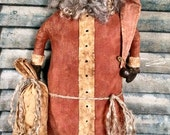 Ye Kringle EPATTERN...primitive country christmas holiday santa cloth doll craft digital download sewing pattern...PDF...1.99