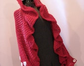 Hearts on Sleeve Valentine Sweater Jacket Wrap Adjusts One Size Fits Most From Sm to Lg ONE of a KIND