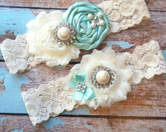 61 different colors / Wedding garter / Garter SET / wedding garters / bridal  garter/  lace garter / vintage lace garter
