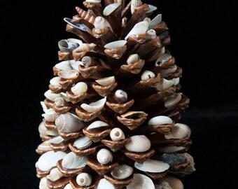 Treasures of The Sea Decorative Pinecone Tree