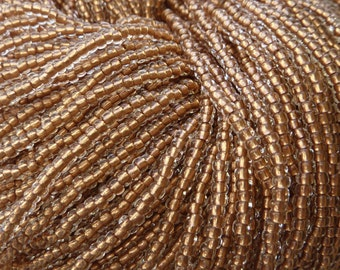 8/0 Copperlined Crystal Czech Glass Seed Bead Strand (CW9)