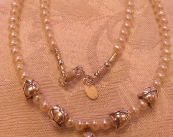 Roses on Pearl Necklace