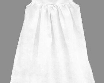 white christening, baptism slip