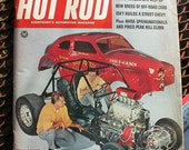 Hot Rod, September 1967, vintage car magazine, hot rods, gas station man cave, race car motorhead