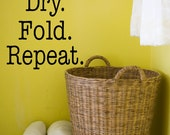 Large Wash Dry Fold Repeat Vinyl Decal