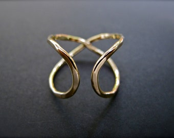 Infinity Ring (Wide) -  Solid 18k Yellow Gold Promise Ring
