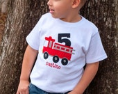 Fire Truck Birthday Shirt, Firetruck Birthday Shirt, Boys Birthday Shirt, Firetruck Birthday