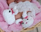 Fuzzy Crochet Bunny Slippers Pattern